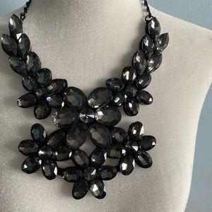 Women's Statement  black gray beautiful crystal